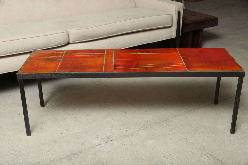 French Coffee Table by Roger Capron For Sale