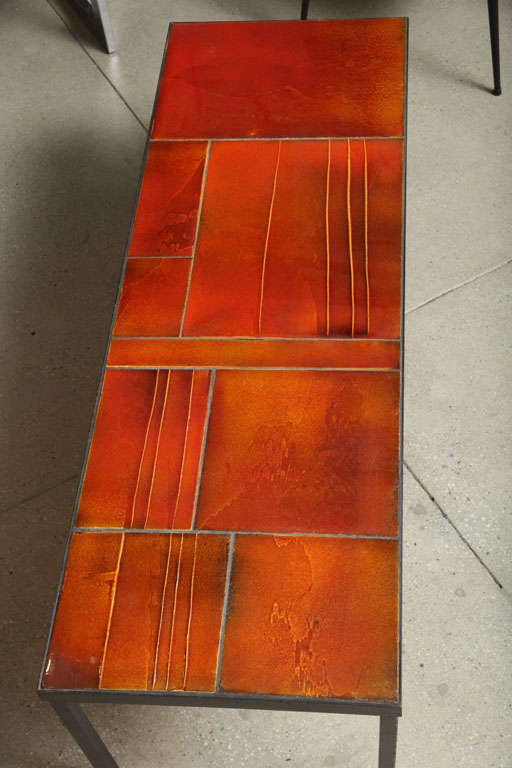 Coffee Table by Roger Capron In Excellent Condition For Sale In Brooklyn, NY