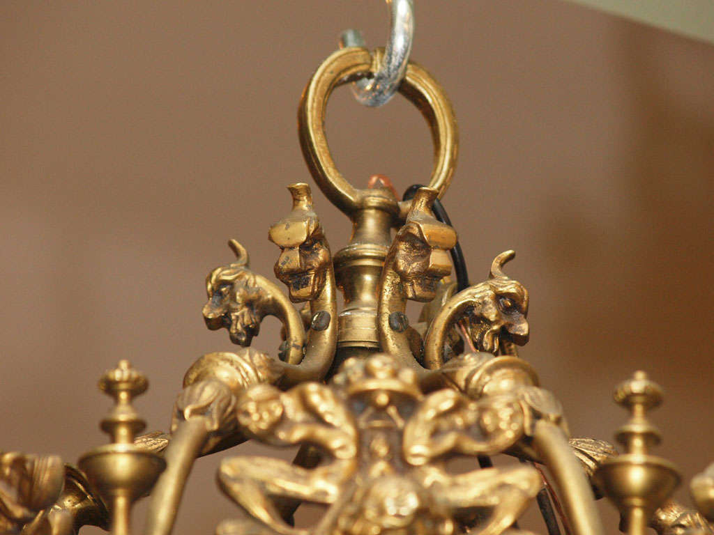 19th Century English Brass And Stained Glass Lantern For Sale
