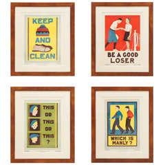"""Collection of 1930s """"Character, Culture and Citizenship"""" Posters"""
