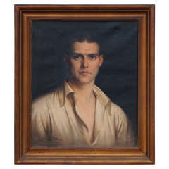 Society Portrait of Handsome Young Man by Ernest Castelein