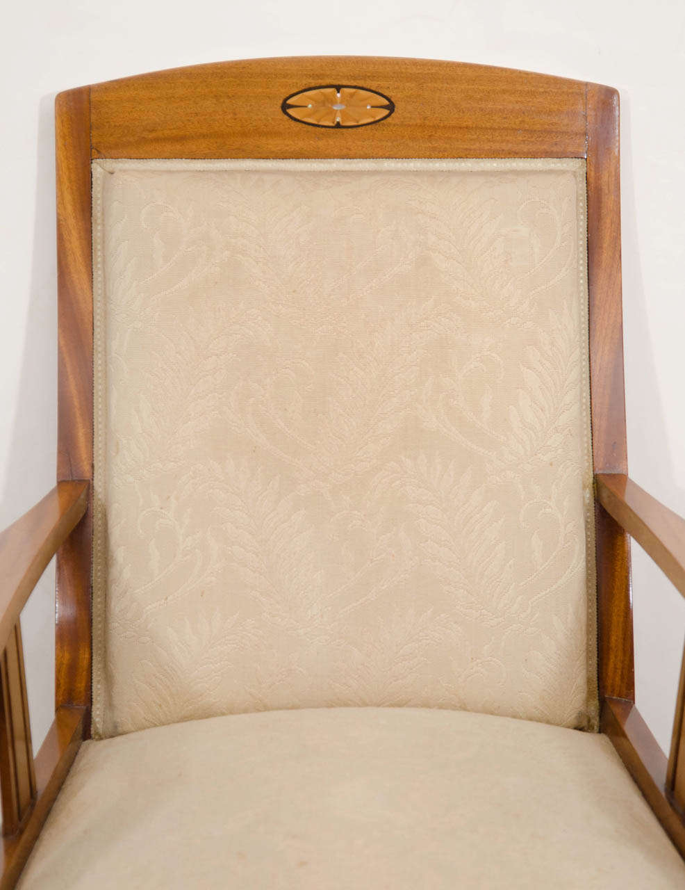 Jugendstil Mahogany Salon Chairs with Ebony, Birch and Mother-of-Pearl Inlay 3