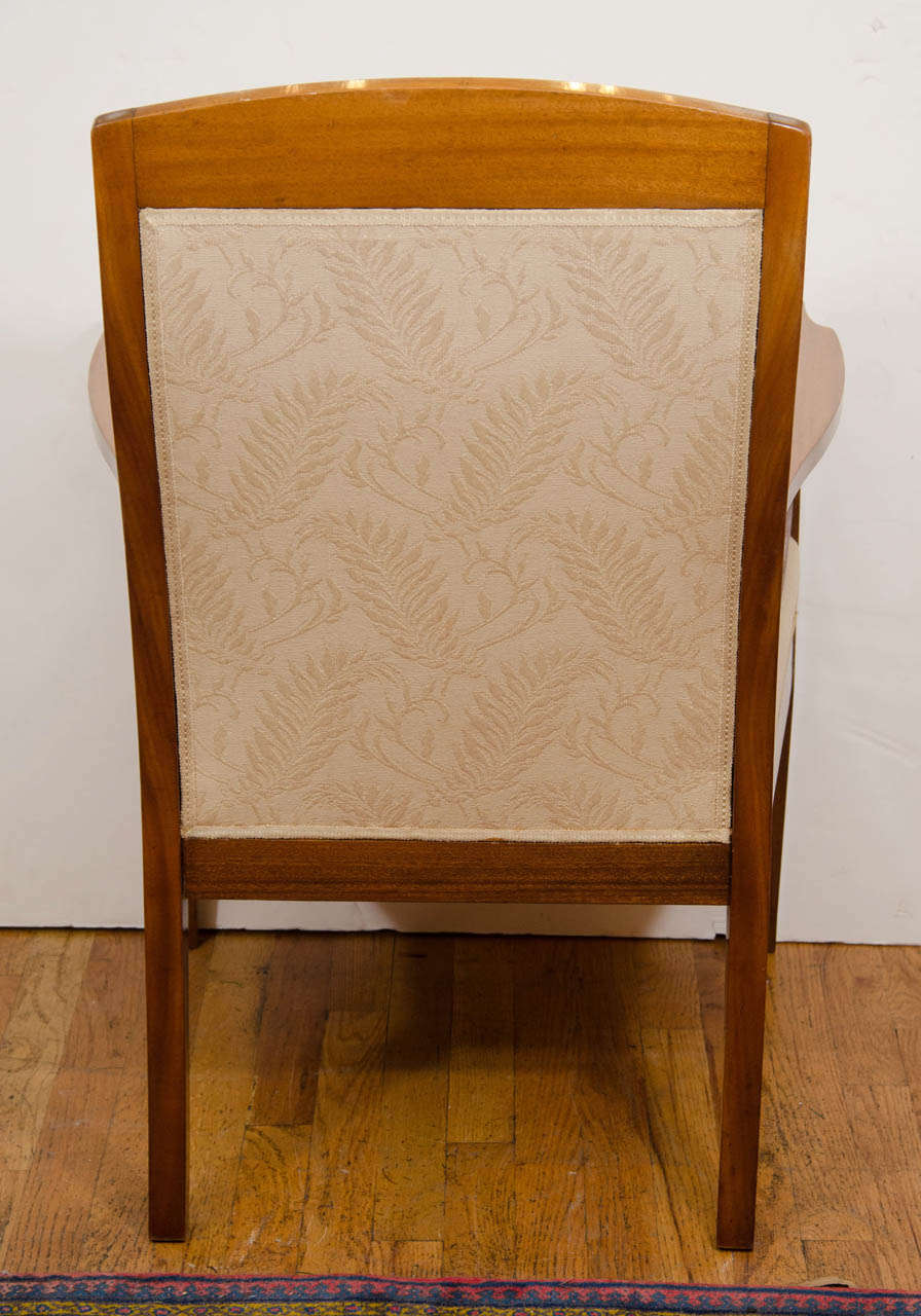 Jugendstil Mahogany Salon Chairs with Ebony, Birch and Mother-of-Pearl Inlay 7