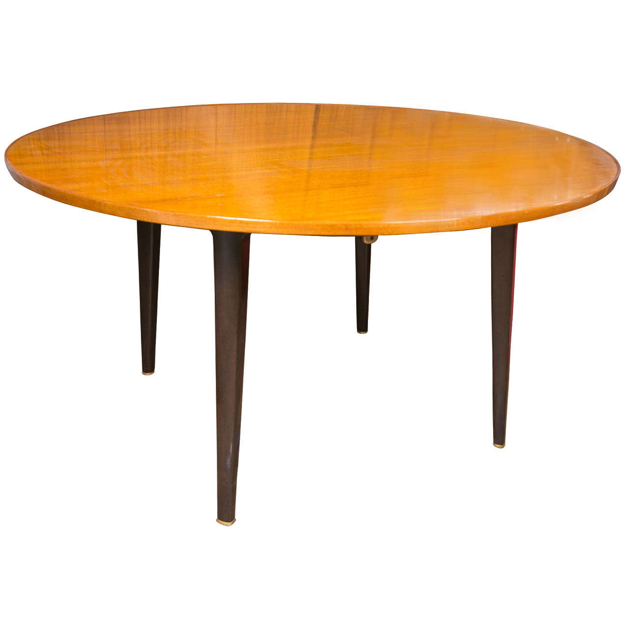Edward wormley round extension dining table by dunbar at for Round extension dining table