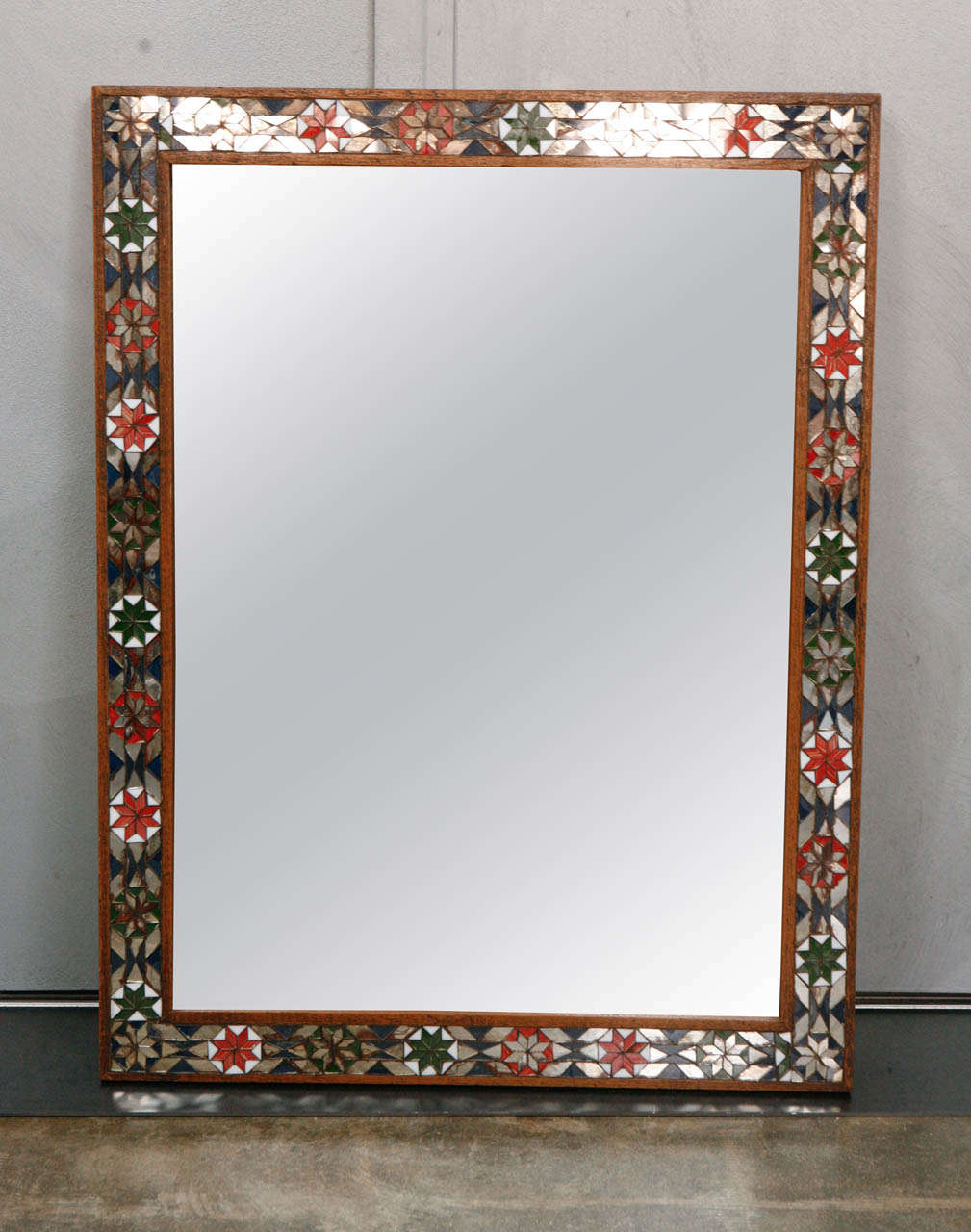 1920\'s Glass inlaid Mirror Frame For Sale at 1stdibs