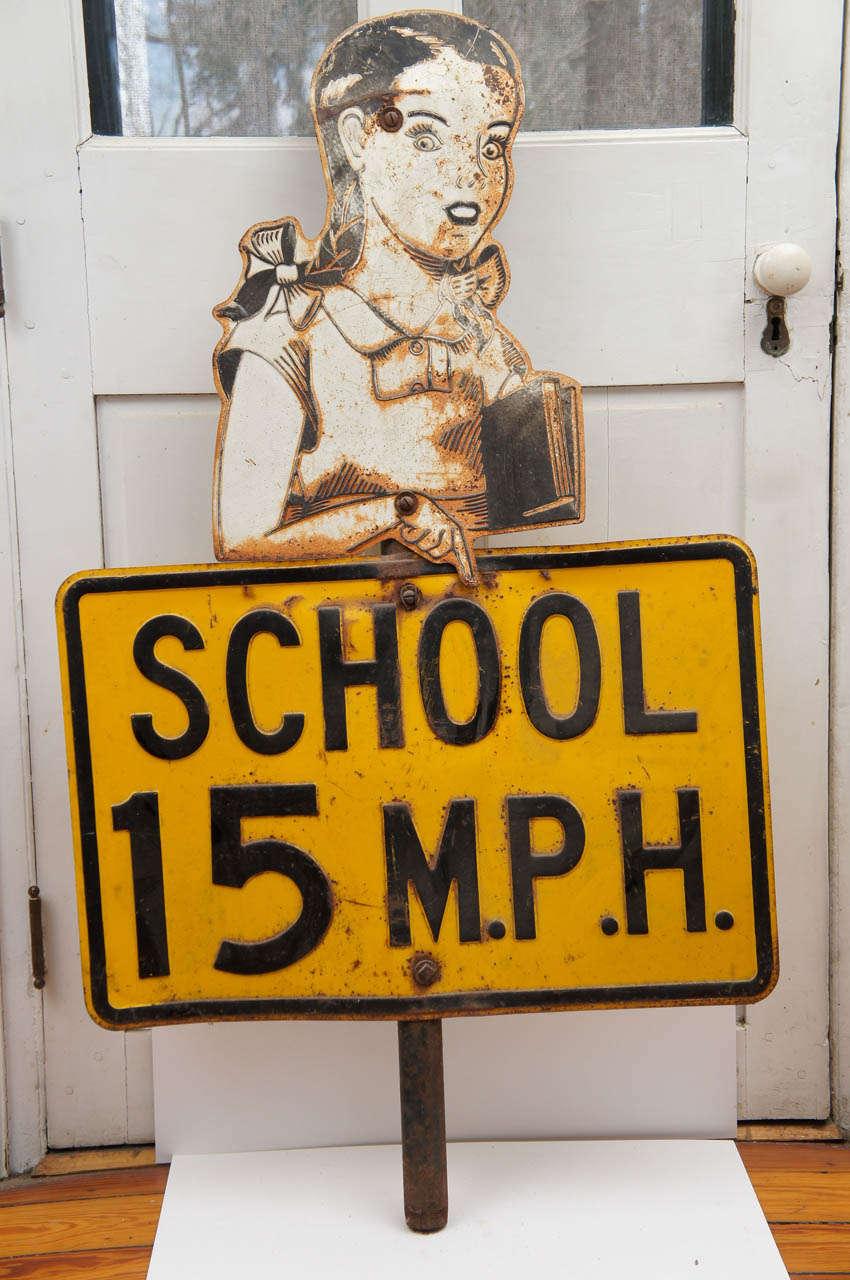 Painted sheet metal traffic/street sign on 3
