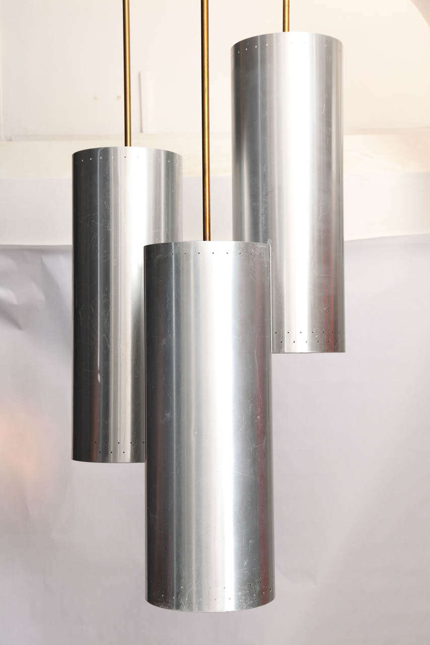 Anodized Architectural 1940s Ceiling Fixture