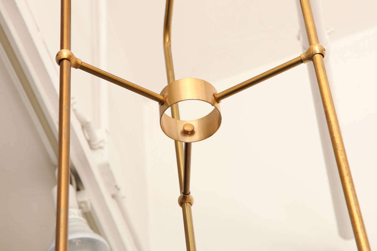 Architectural 1940s Ceiling Fixture 1