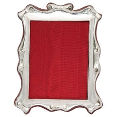 """Large Edwardian Sterling Silver """"Scroll-Work"""" Picture Frame"""