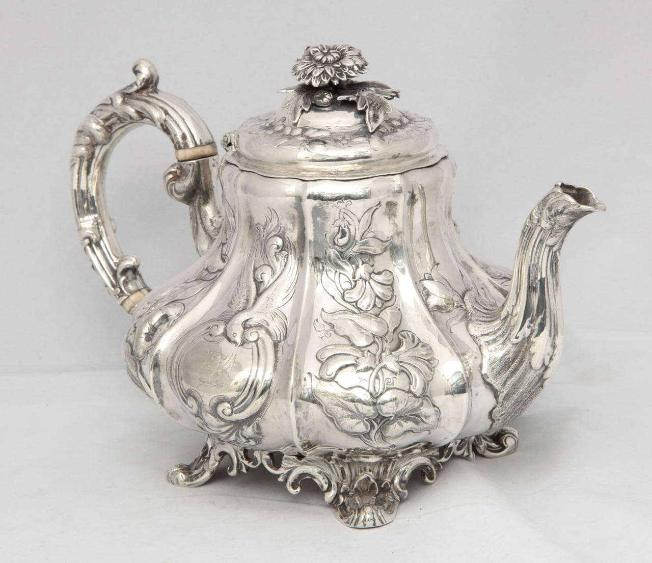Victorian Sterling Silver Footed Tea Pot At 1stdibs