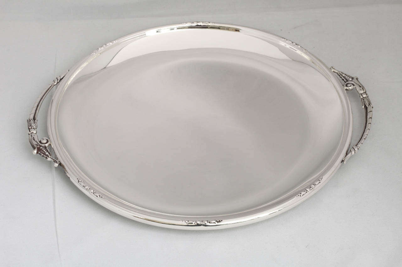 Art Deco Sterling Silver Serving Platter Tray At 1stdibs