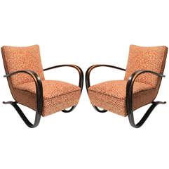 Art Deco armchairs by Halabala
