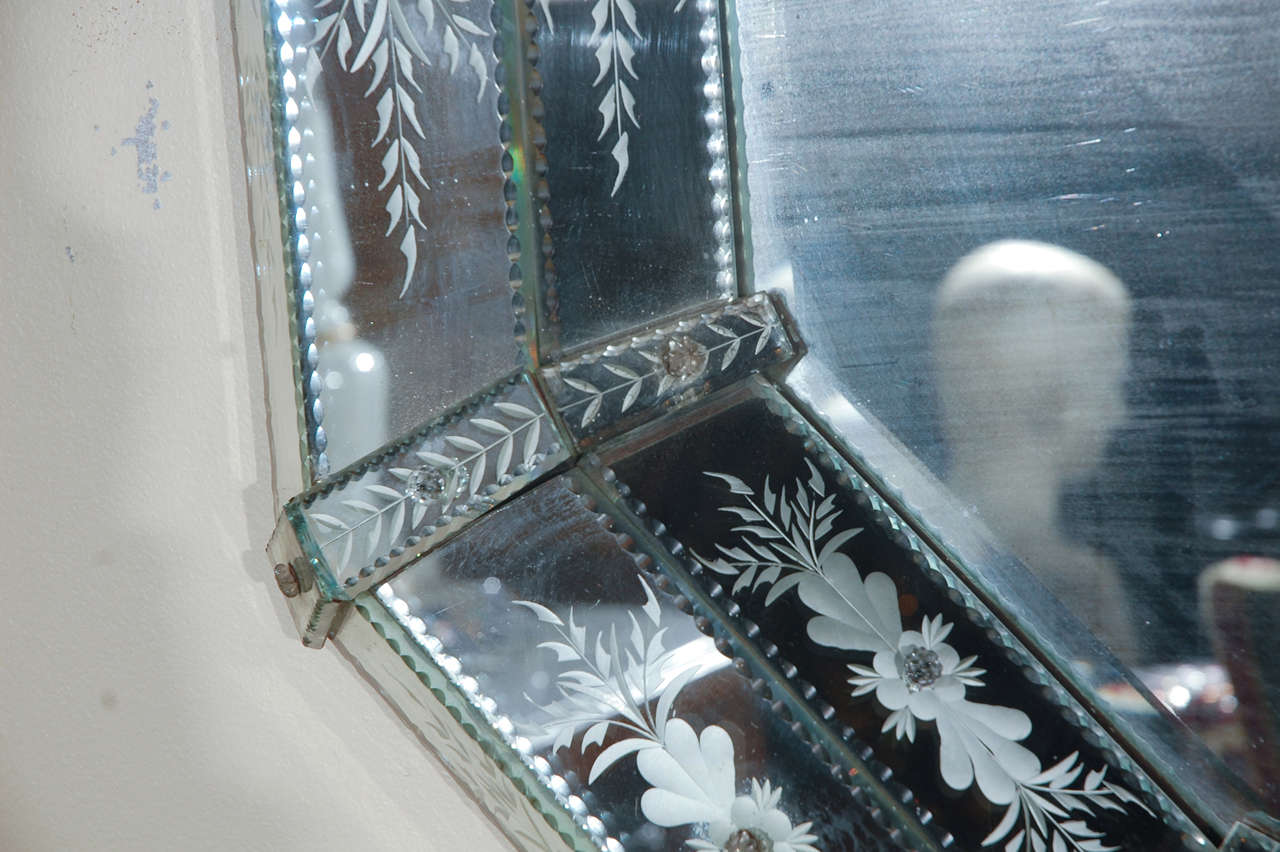Hand-Etched Venetian Mirror For Sale 2