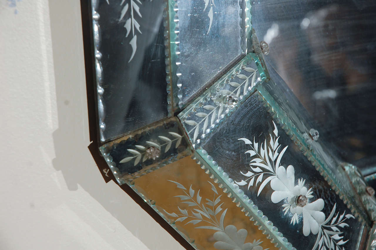 Hand-Etched Venetian Mirror For Sale 3