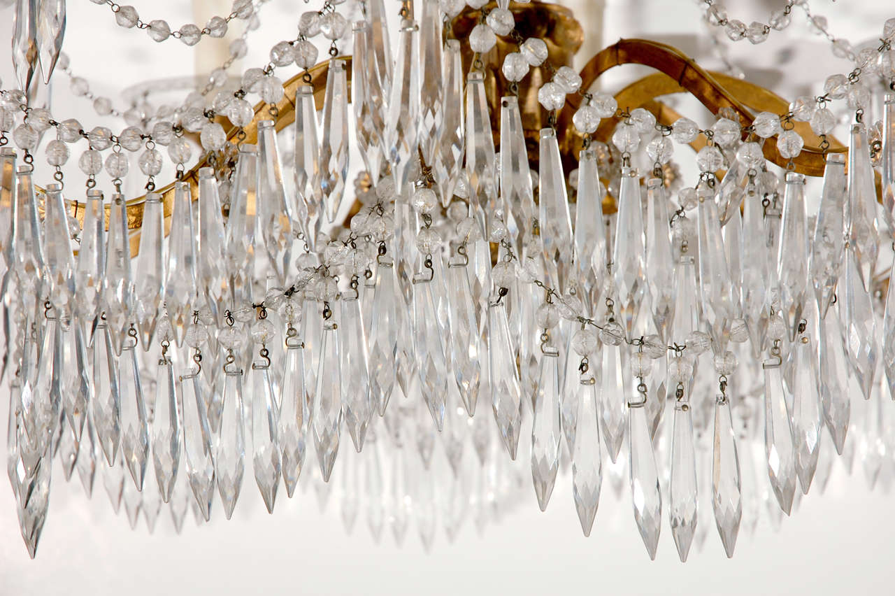 19th c., Cut Crystal Chandelier For Sale 1