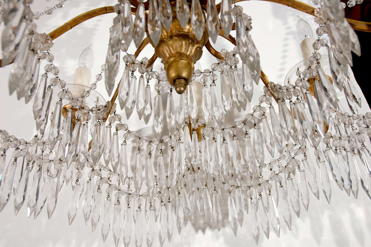 19th c., Cut Crystal Chandelier For Sale 2