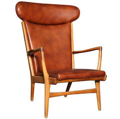 Oak AP-15 Highback Armchair by Hans Wegner