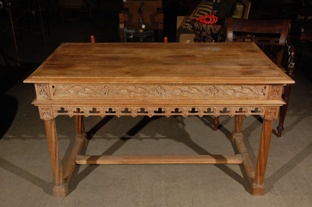 Gothic Library Table At 1stdibs