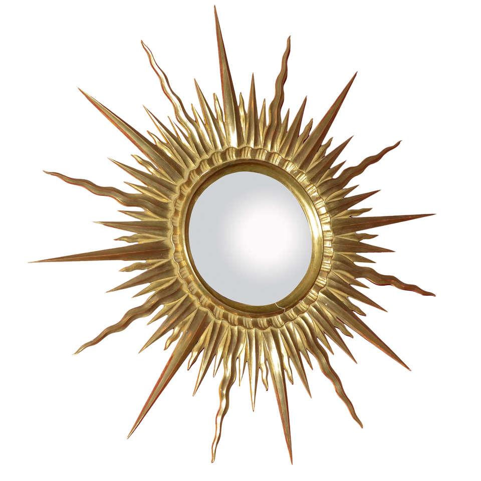 1950s Sunburst Mirror At 1stdibs