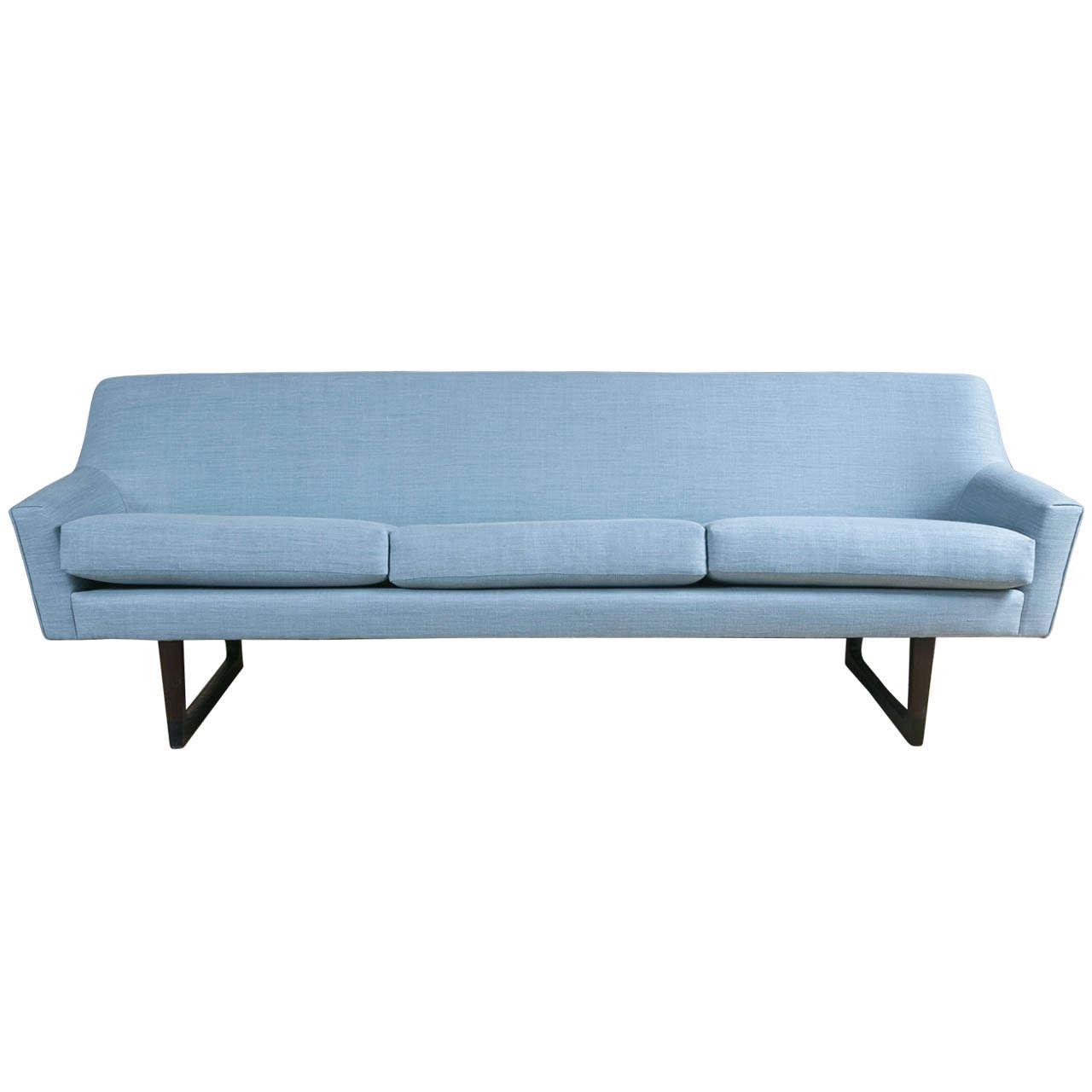 Mid century danish modern sofa at 1stdibs for Danish modern sofas