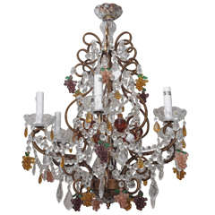Crystal Chandelier with Grape Motif