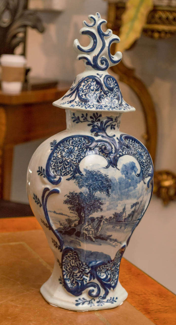 18th Century Hand Painted Porcelain Delft Blue Jars And Vases At 1stdibs