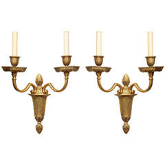 Pair of Caldwell Two Light Baroque Style Sconces