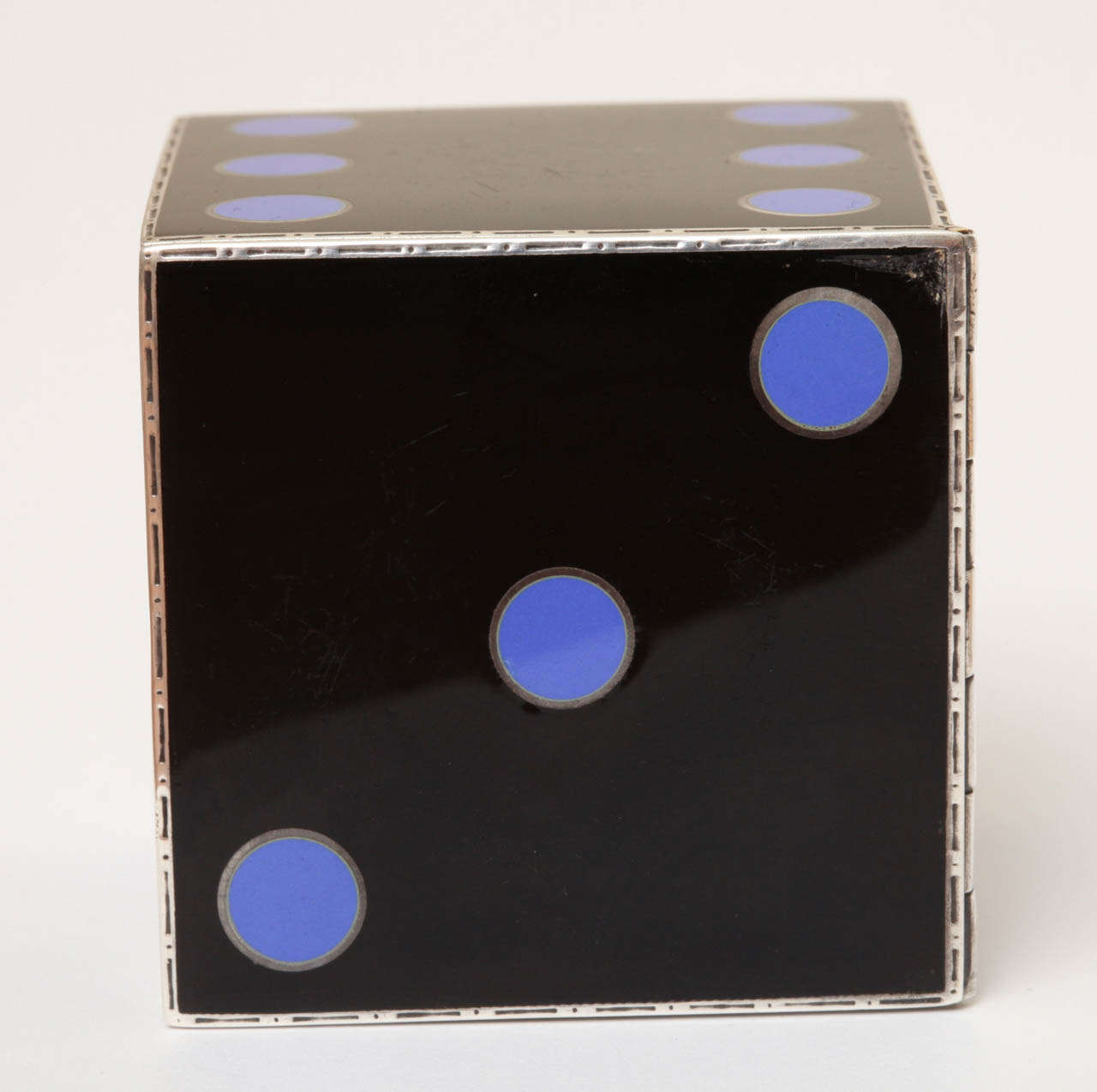 20th Century Art Deco Enamel Clock by J.E. Caldwell For Sale