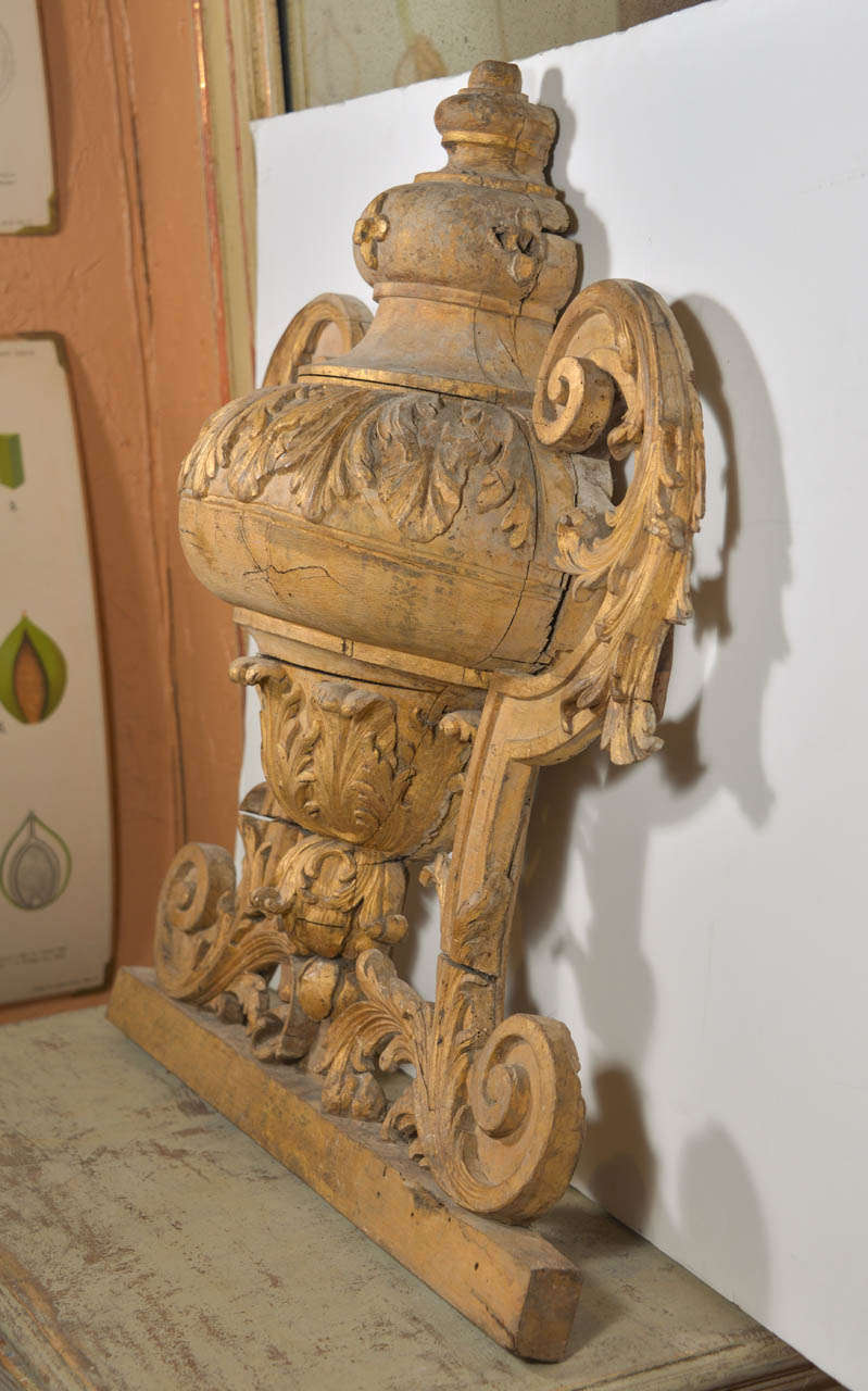 Late 18th Century Large 18th Century Louis XVI Carved Urn For Sale