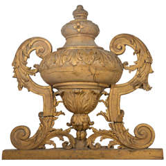 Large 18th Century Louis XVI Carved Urn