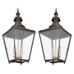 Pair of 19th Century English Copper Lanterns