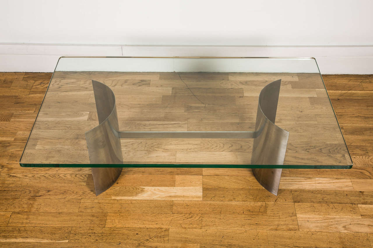1970s Coffee Table Attributed to Francoise See In Good Condition For Sale In Paris, FR
