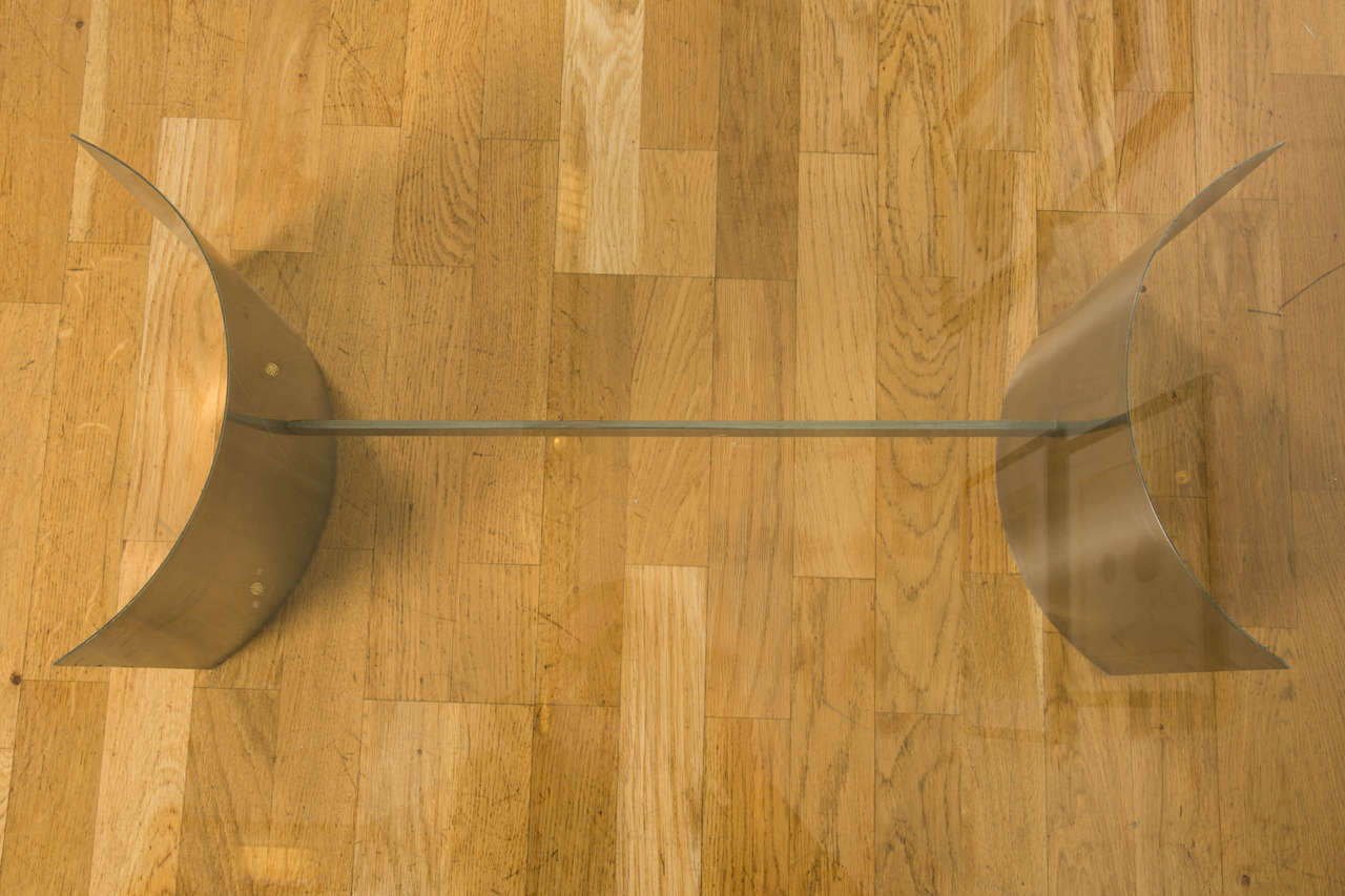 1970s Coffee Table Attributed to Francoise See For Sale 4
