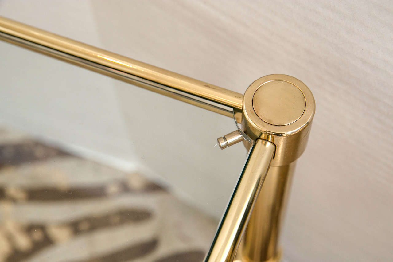 French Modernist Brass Cocktail Table 5