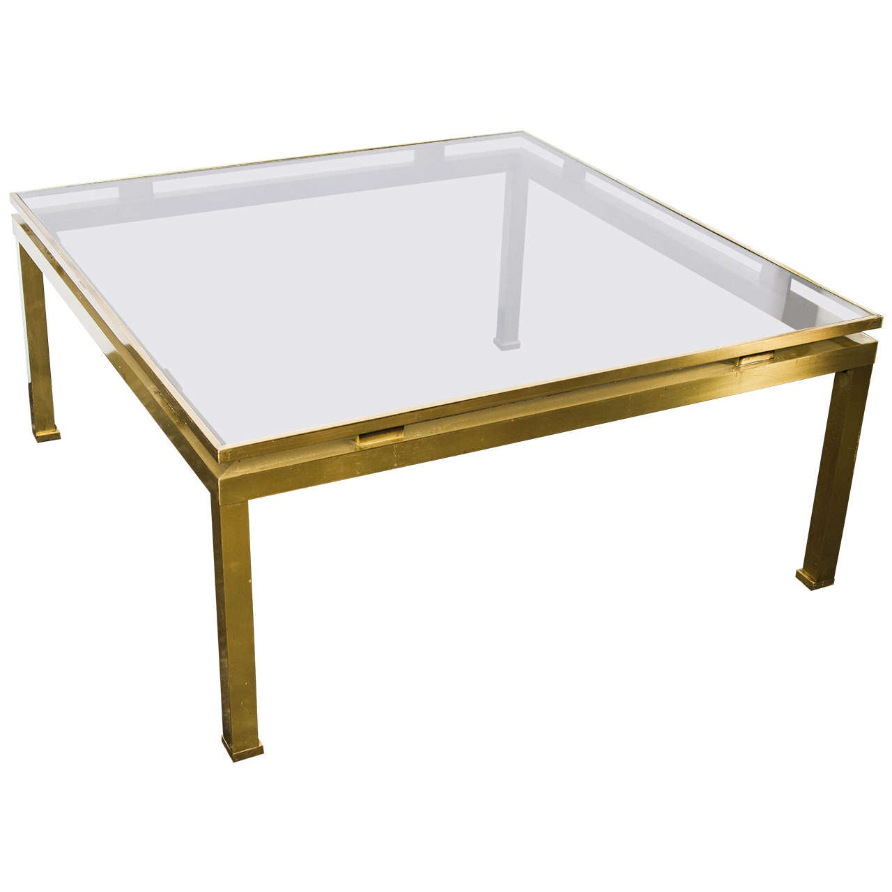 Brass And Glass Coffee Table By Guy Lefevre At 1stdibs