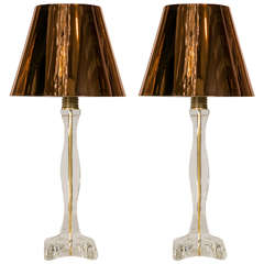 Pair of Lamps in Glass