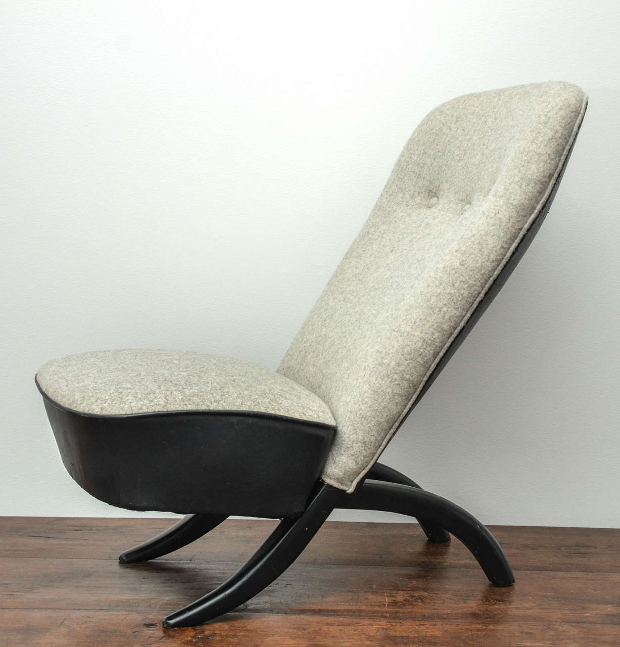 Wood Pair of Theo Ruth Chairs For Sale