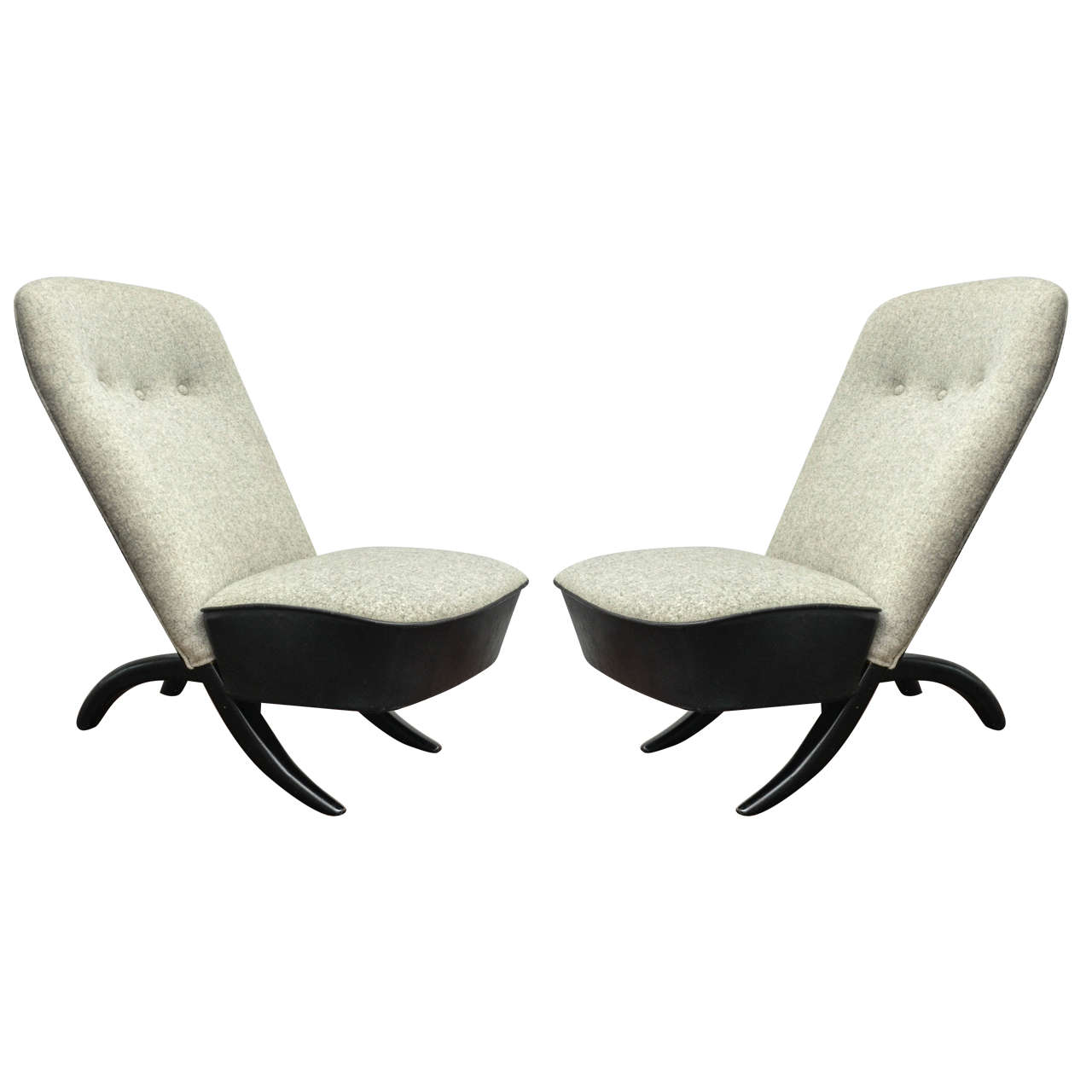 Pair of Theo Ruth Chairs For Sale