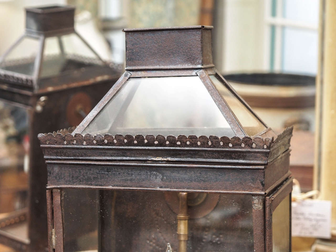 Patinated 19th Century French Lantern For Sale
