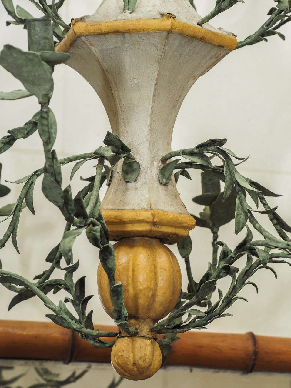 Painted Pair of Late 18th Century L'orangerie Chandeliers For Sale