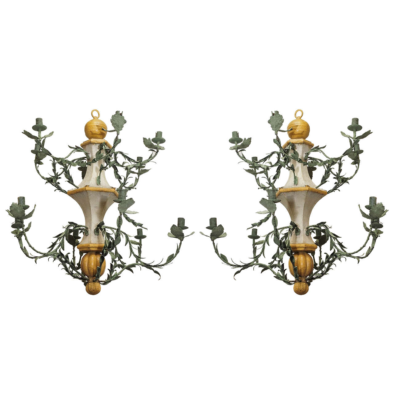 Pair of Late 18th Century L'orangerie Chandeliers For Sale