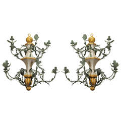 Pair of Late 18th Century L'orangerie Chandeliers