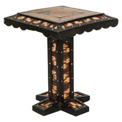Miniature Ceylonese Quill Table