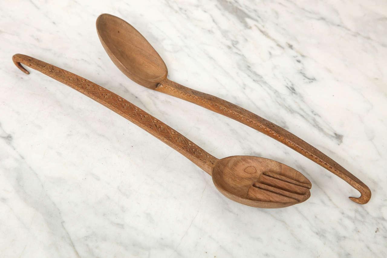 Norwegian Folk Art Spoon Rack and Spoon Collection 1