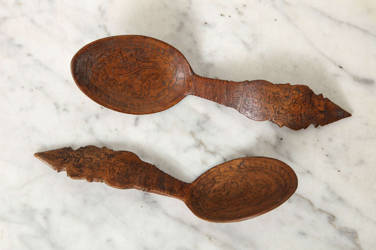Norwegian Folk Art Spoon Rack and Spoon Collection 2
