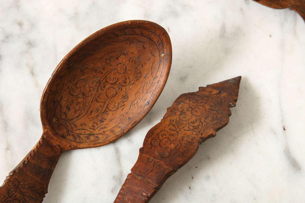 Norwegian Folk Art Spoon Rack and Spoon Collection 4
