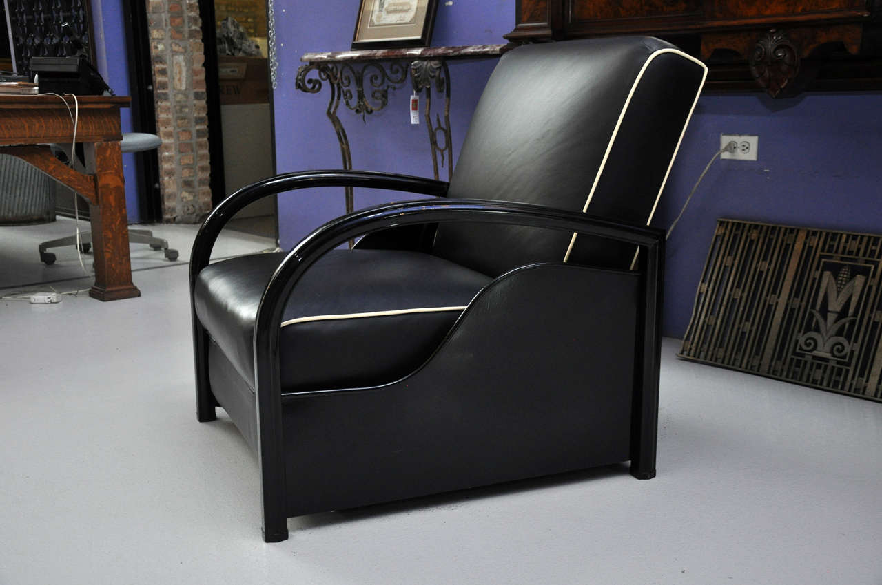 Adjustable art deco lounge chair at 1stdibs - Lounge deco ...