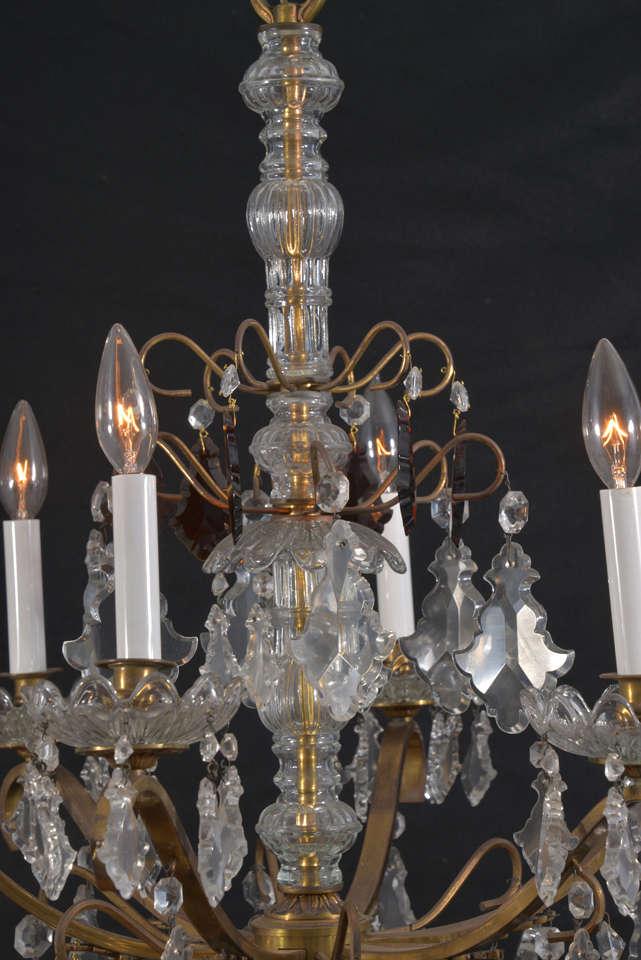 Unusual Vintage 6 Light Petite Crystal Italian