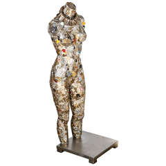 Tall Form Woman Mannequin Key Sculpture