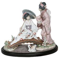 Charming Lladro Japanese Ladies Figurine